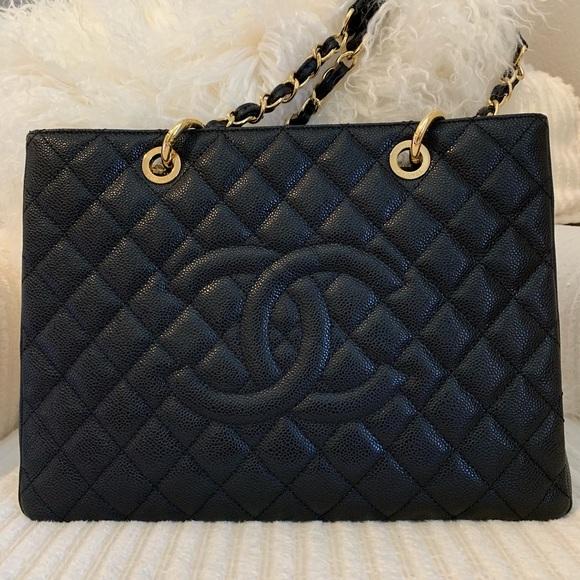 CHANEL Handbags - Chanel GST black caviar gold hardware